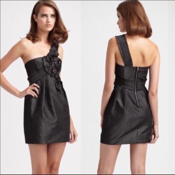 BCBGMaxAzria Dresses & Skirts - BCBG Max Azria Gunmetal Grey Cocktail Dress